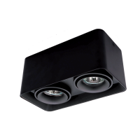DL-044 SQUARE DOUBLE DOWNLIGHT SURFACE MOUNTED BLACK