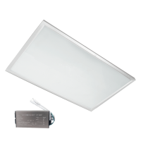 LED PANEL 36W 4000-4300K 595X295mm CADRU ALB IP44+KIT EMERGENTA