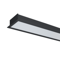HIGH POWER LED PROFILE RECESSED S48 20W 4000K BLACK