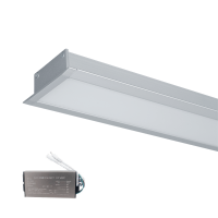HIGH POWER LED PROFILE RECESSED S48 20W 4000K GREY+EMERGENCY KIT