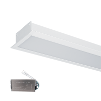 HIGH POWER LED PROFILE RECESSED S48 20W 4000K WHITE+EMERGENCY KIT