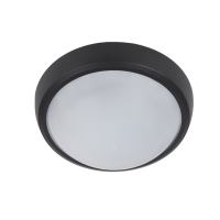 CORP ILUMINAT LED ROTUND TAVAN BRLED 6W NEGRU IP54